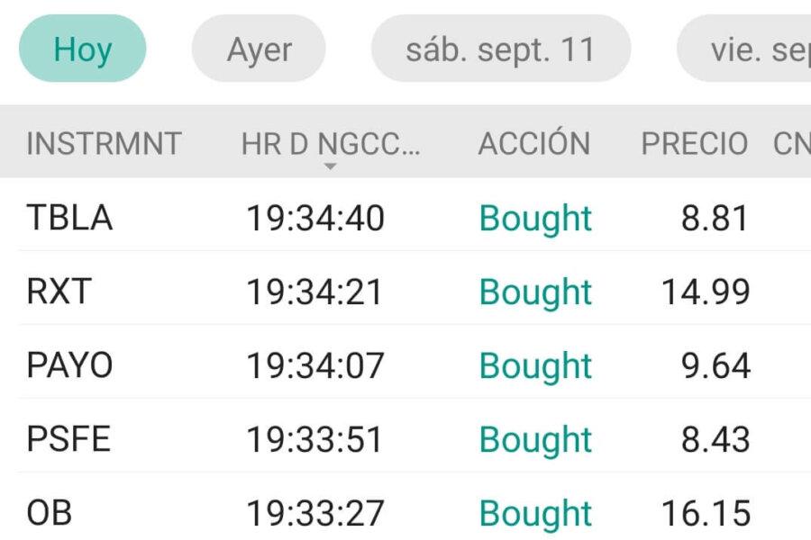 Interactive Brokers compra de valores